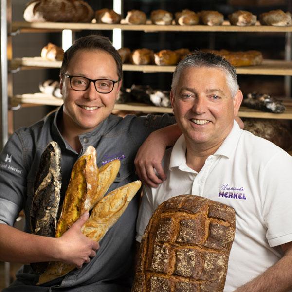 junior und senior merkel, bäckermeister